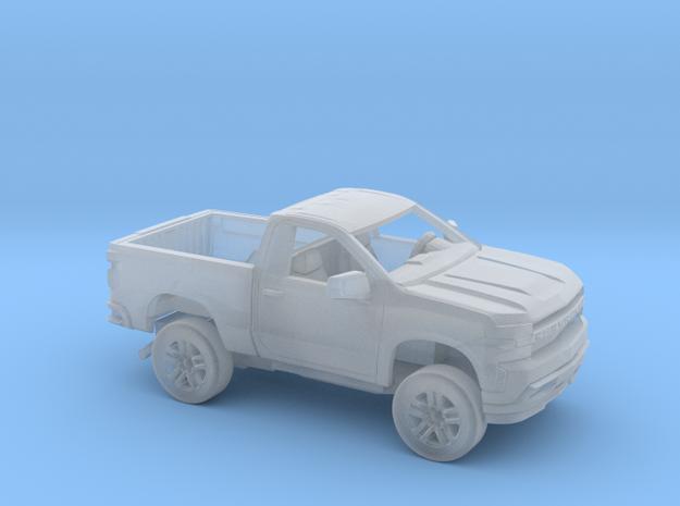 1/160 2019 Chevy Silverado Reg Cab Short Bed Kit in Smooth Fine Detail Plastic