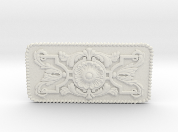 Jim West Buckle 2mm 4x2 in White Natural Versatile Plastic