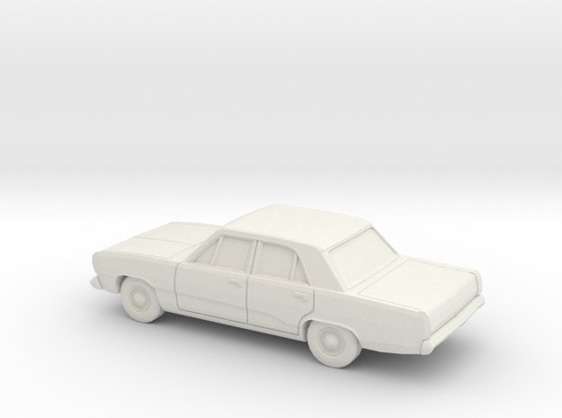 1/43 1970-72 Plymouth Valiant in White Natural Versatile Plastic