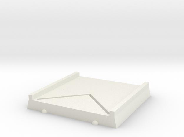 40x40BASE1 in White Natural Versatile Plastic