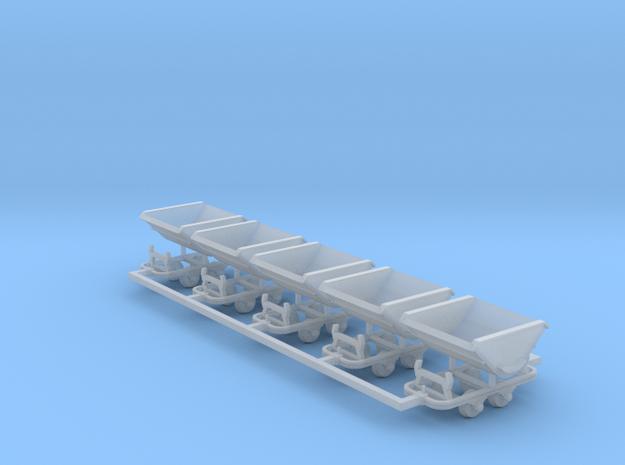 Feldbahn Kipploren 5er Set - TTf 1:120 in Smooth Fine Detail Plastic