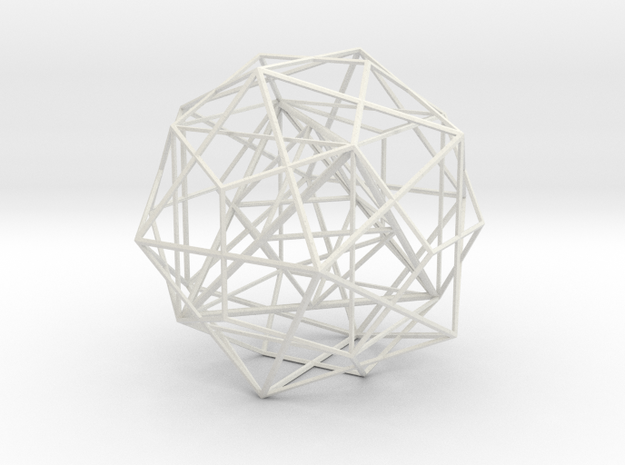 Nested Polyhedra, Large in White Natural Versatile Plastic