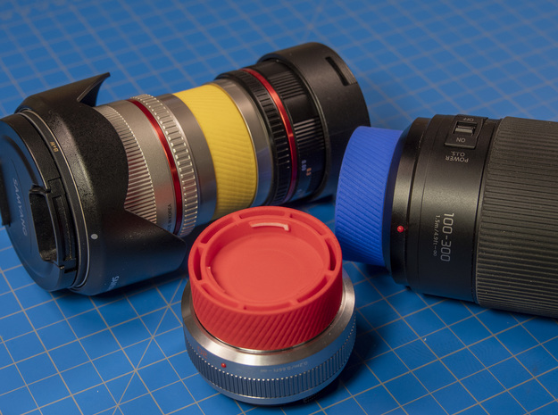 Stacking Lens Cap for Micro Four Thirds Lenes in Red Processed Versatile Plastic