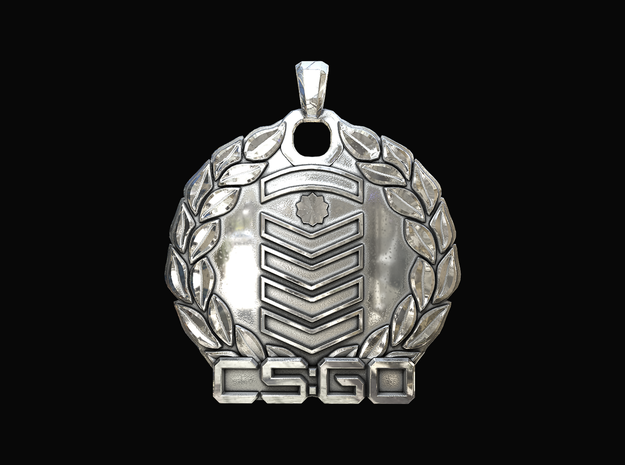 CS:GO - Silver Elite Master Pendant in Polished Silver