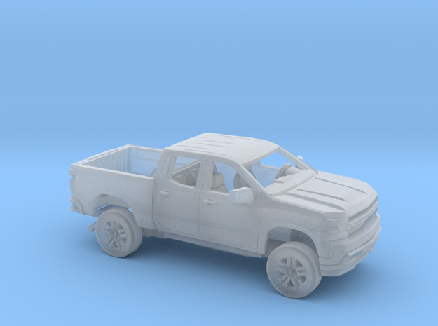 1/87 2019 Chevy Silverado Ext Cab Short Bed Kit in Smooth Fine Detail Plastic