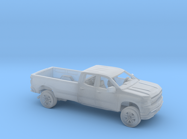 1/87 2019 Chevrolet Silverado Ext Cab Long Bed Kit in Smooth Fine Detail Plastic