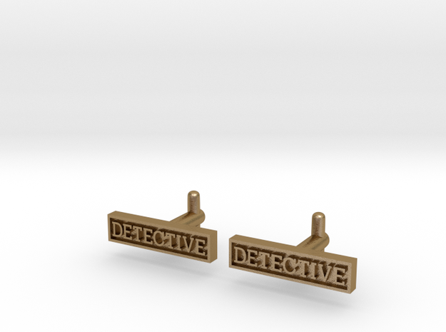 Detective Cufflinks (Style 2) REVISED 3d printed