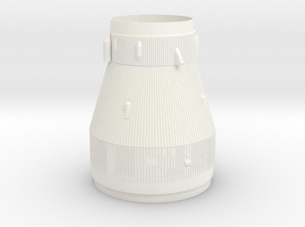 1:125 Scale Saturn V Transition in White Processed Versatile Plastic