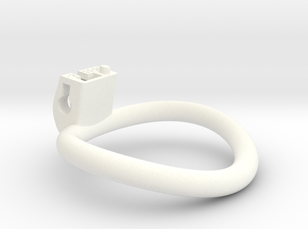 Cherry Keeper Ring - 55x50mm Wide Oval -2°(~52.5mm in White Processed Versatile Plastic