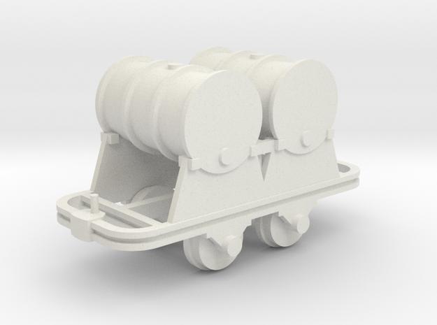Benzinfaßlore(2Fässer) - 1:35 in White Natural Versatile Plastic