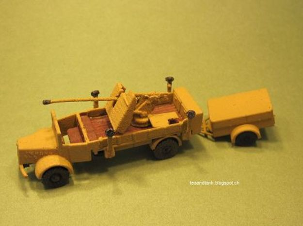 1/144 Mercedes S4500  5cm Flak with ammo trailer  in White Natural Versatile Plastic