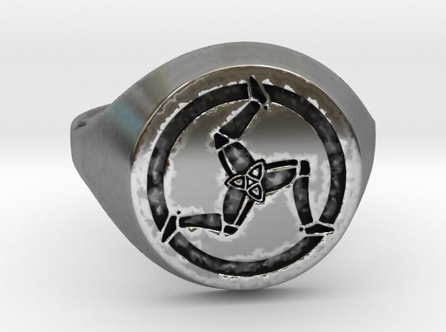 Ile of Man Ring in Antique Silver: Medium