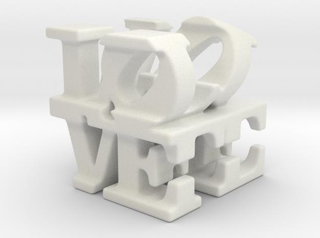 love/life - tiny (1cm) in White Natural Versatile Plastic