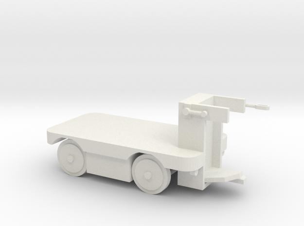 E-Karren Flachwagen - 1:35 in White Natural Versatile Plastic