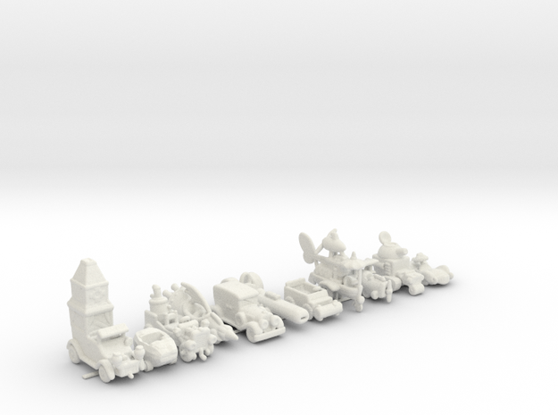 ALL WACKY RACERS 160 scale in White Natural Versatile Plastic