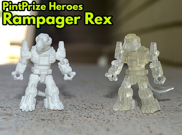 Rampager Rex PPH Kit in White Natural Versatile Plastic: Medium
