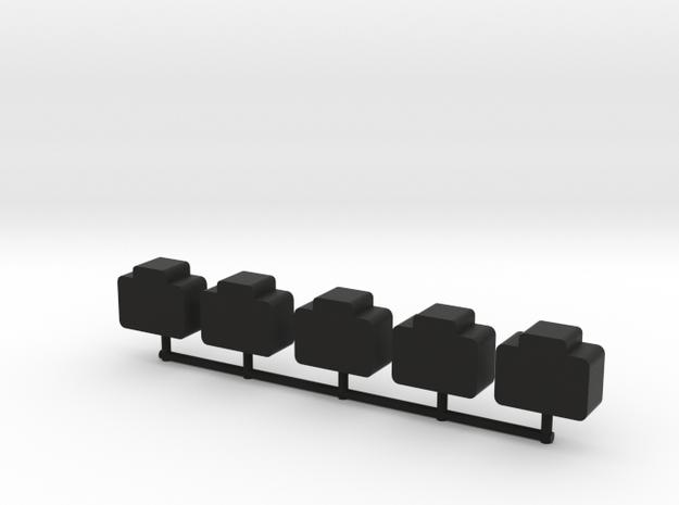 Custom Order, briefcase tokens, 5-set in Black Natural Versatile Plastic