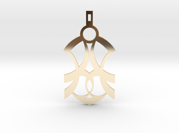 SERIPPY PENDANT in 14k Gold Plated Brass