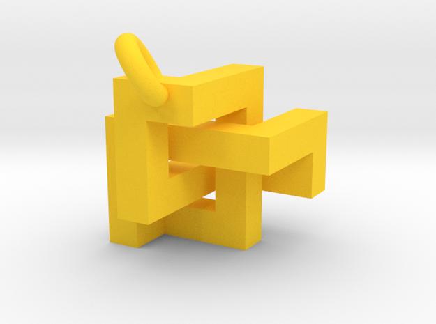 Cubic Knot Pendant 2 3d printed