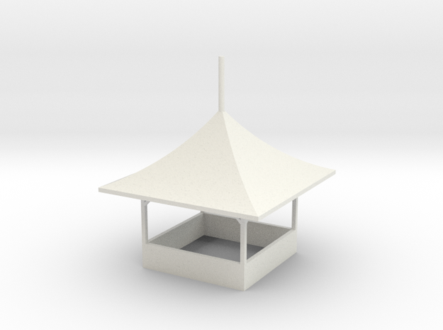 modern Gametent ver,1 - 1:87 (H0 scale) in White Natural Versatile Plastic
