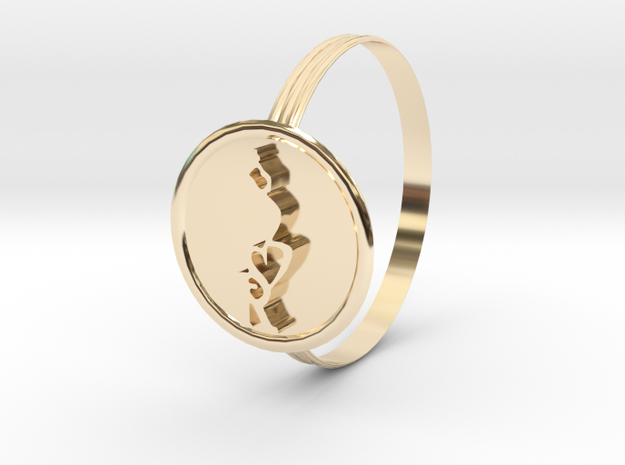 SERIPPY RING in 14K Yellow Gold