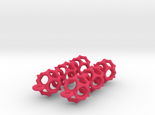 Gyroid Earrings 3d printed