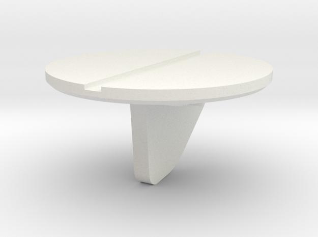 DISC5-AFT-2BBL-WH-STR-02 in White Natural Versatile Plastic