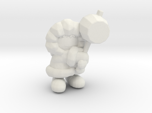 Ice Climber 1/60 miniature for games and rpg in White Natural Versatile Plastic