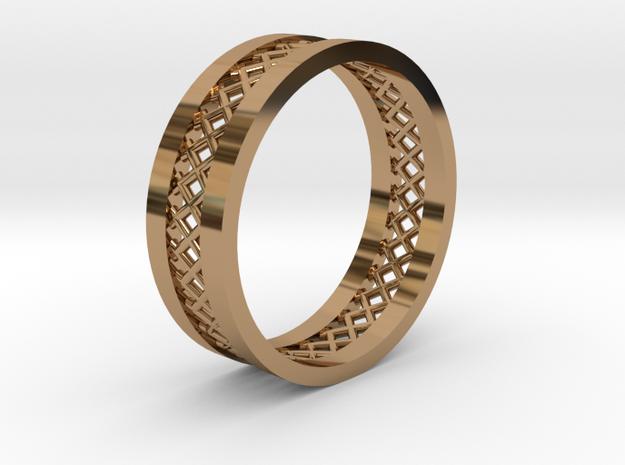 MeshRing in Polished Brass