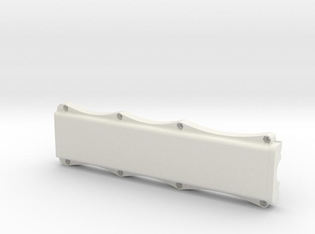 Large Crane Pendent Back Cover in White Natural Versatile Plastic