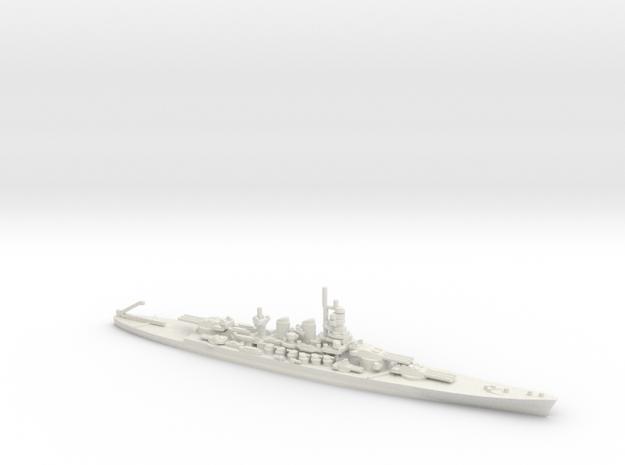 Italian Littorio-class Battleship in White Natural Versatile Plastic: 1:1800