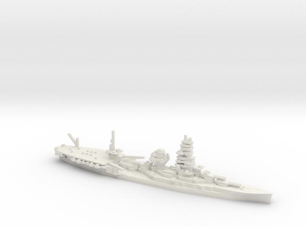 Japanese Ise-class Hybrid Battleship in White Natural Versatile Plastic: 1:1800