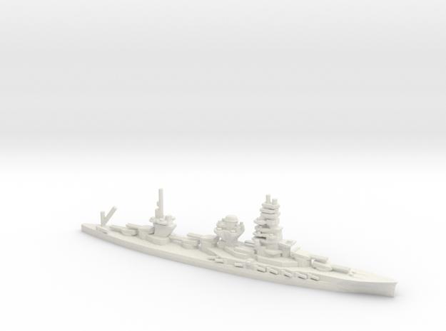 Japanese Ise-Class Battleship in White Natural Versatile Plastic: 1:1800