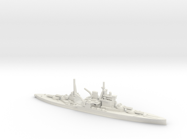 British Queen Elizabeth-Class Battleship in White Natural Versatile Plastic