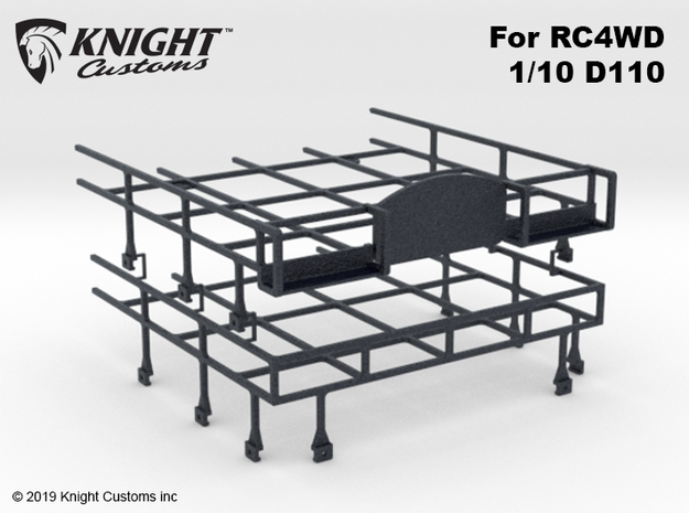 CA10005 Camel D110 Roof Rack in Black Natural Versatile Plastic