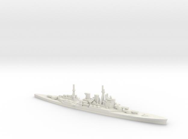 British Renown-Class Battlecruiser in White Natural Versatile Plastic: 1:1800