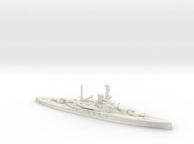British Revenge-Class Battleship in White Natural Versatile Plastic