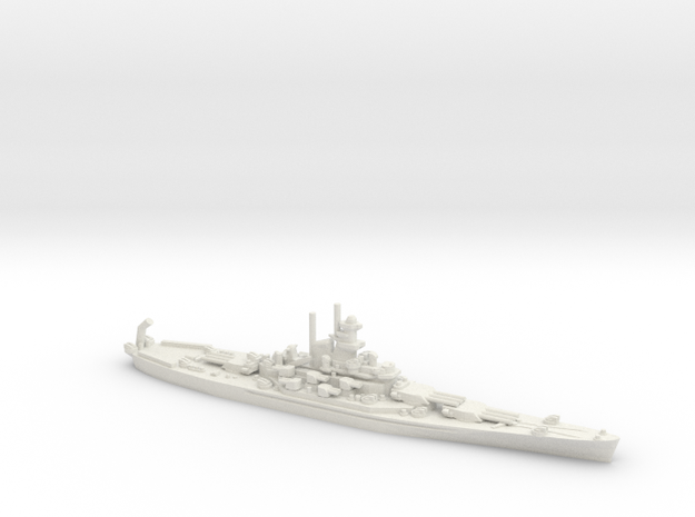 USS Massachusetts (BB-59) in White Natural Versatile Plastic
