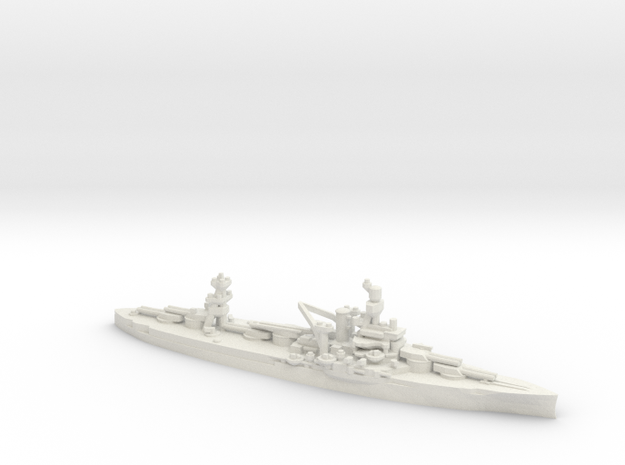 US Wyoming-Class Battleship in White Natural Versatile Plastic