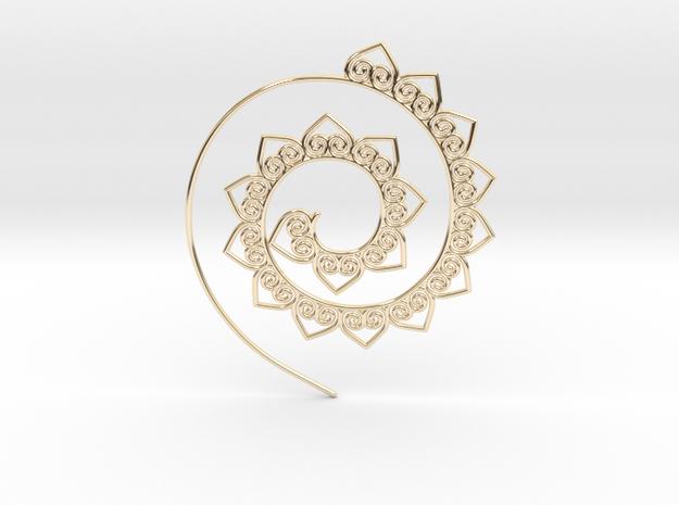 Heart Hoop Earring in 14k Gold Plated Brass