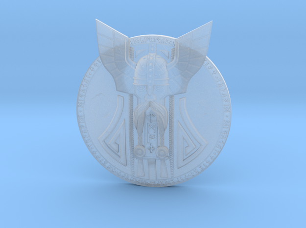 Dwarven Shield (for 6 & 7 inch - 1:12 scale) in Smooth Fine Detail Plastic
