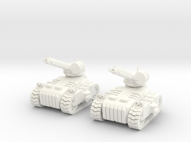 6mm - Hellfire Artillery  in White Processed Versatile Plastic