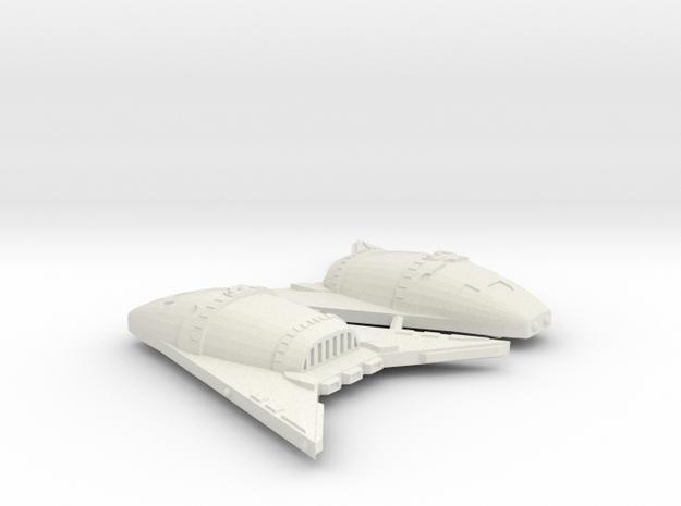 3788 Scale Hydran Buffalo Hunter War Destroyers, 2 in White Natural Versatile Plastic