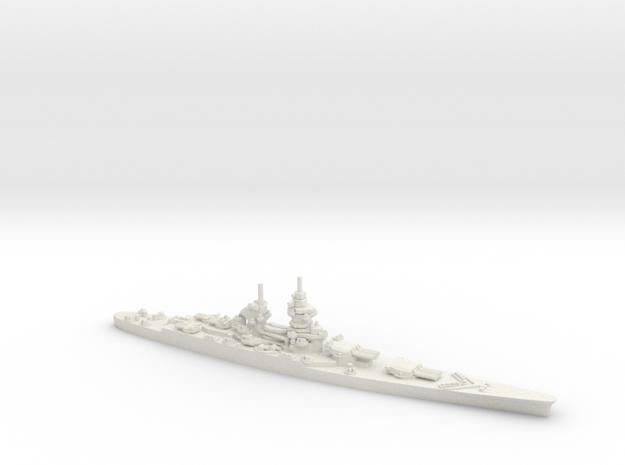 French Richelieu-Class Battleship in White Natural Versatile Plastic: 1:1800