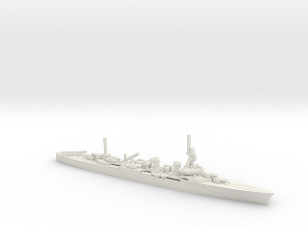 French Duguay-Trouin-Class Cruiser in White Natural Versatile Plastic