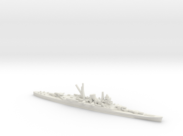 Japanese Mogami-Class Cruiser (5x2) in White Natural Versatile Plastic