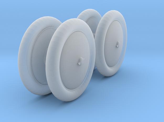 Duesenburg closed wheel set 1/25 in Smooth Fine Detail Plastic