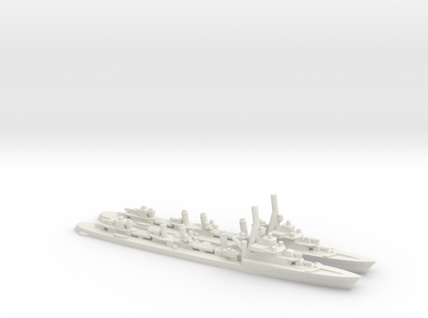French Aigle-Class Destroyer in White Natural Versatile Plastic: 1:1800