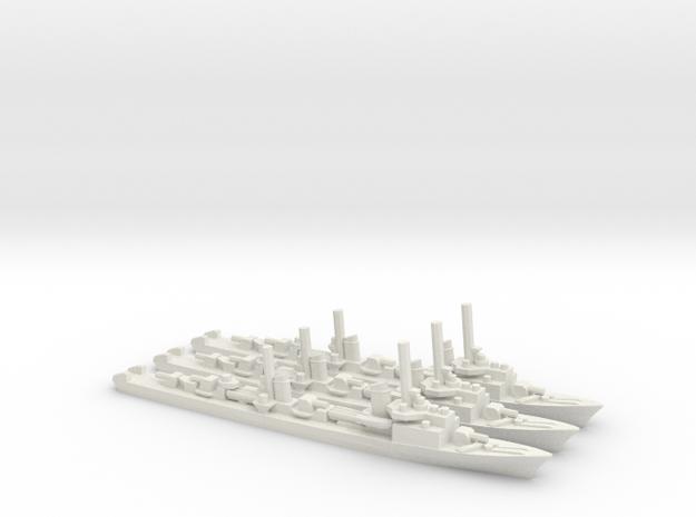 German Elbing-Class Torpedo Boat (x3) in White Natural Versatile Plastic
