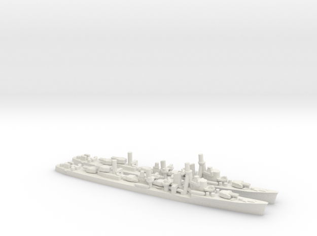 Japanese Yugumo-Class Destroyer (x2) in White Natural Versatile Plastic